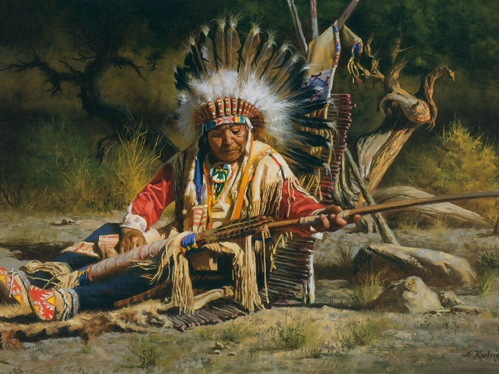 Native American Wallpapers Paintings Painting Art Print Wallpaper 1024x768