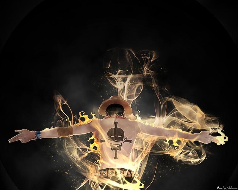 One Piece fire one piece ace anime manga 1280x1024 wallpaper One 800x640