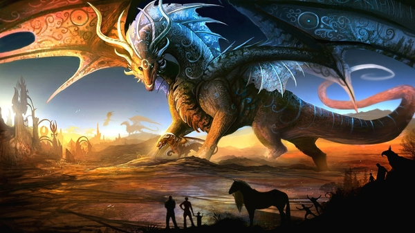 dragons3D dragons 3d 1920x1080 wallpaper 3D Wallpapers 600x337