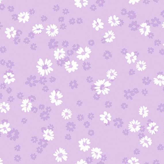Purple Floral Toss Wall Paper   Wall Sticker Outlet 570x570