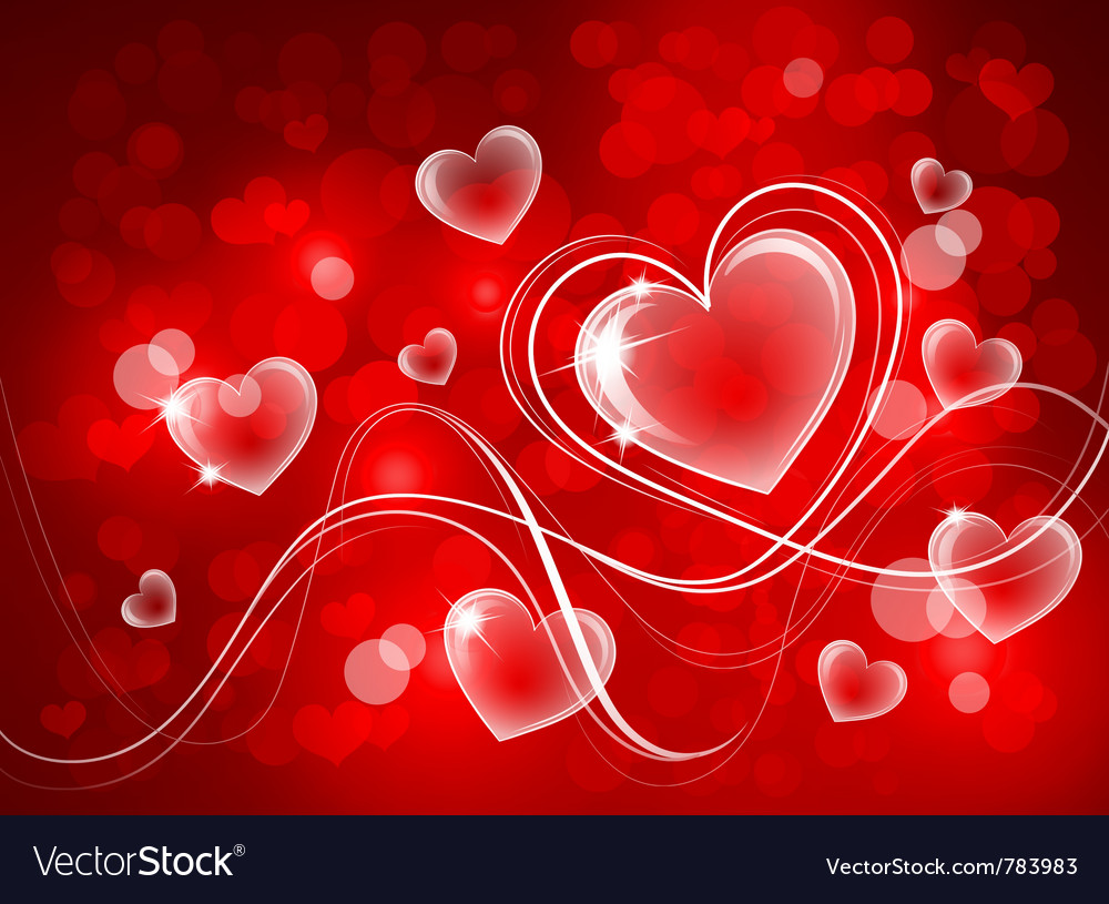 Valentines background Royalty Vector Image 1000x815