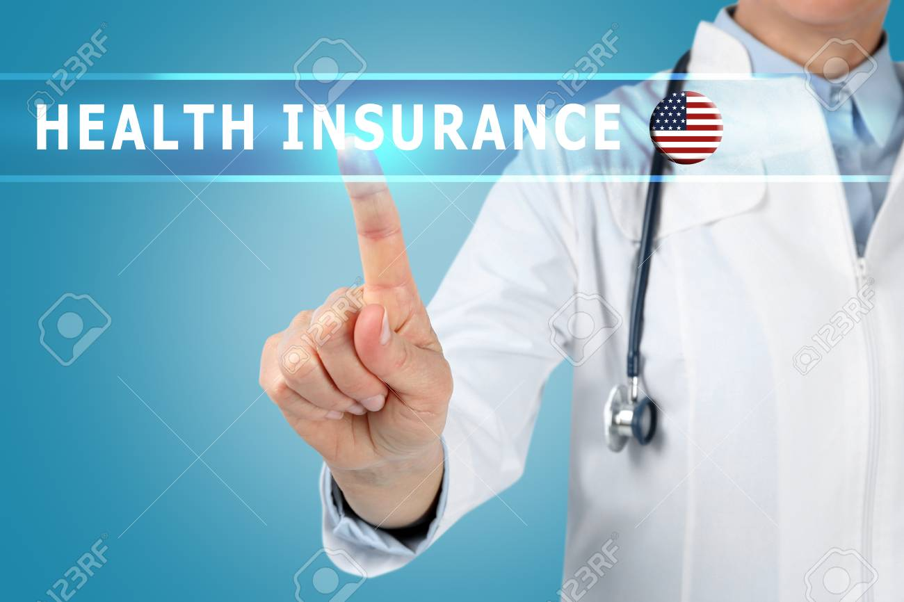 Text HEALTH INSURANCE And Doctor On Background Stock Photo 1300x866