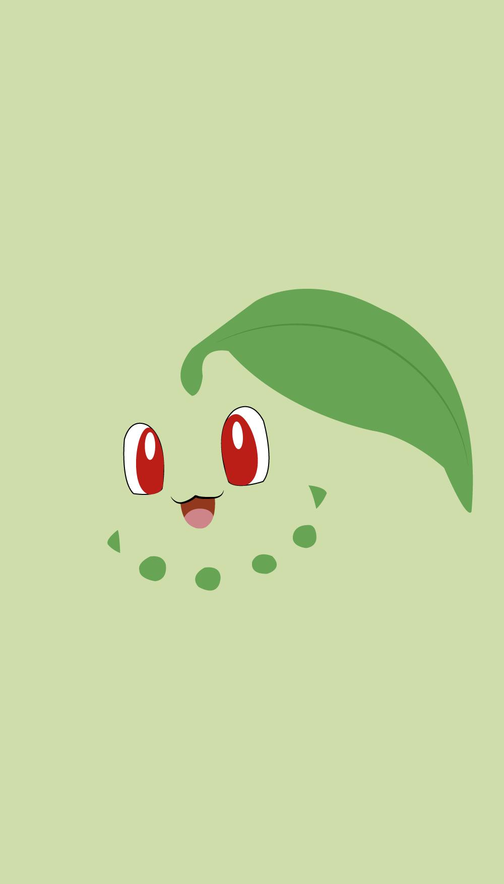 Pokemon Wallpaper Chicorita   Pokemon Chikorita Wallpaper Iphone 1000x1754