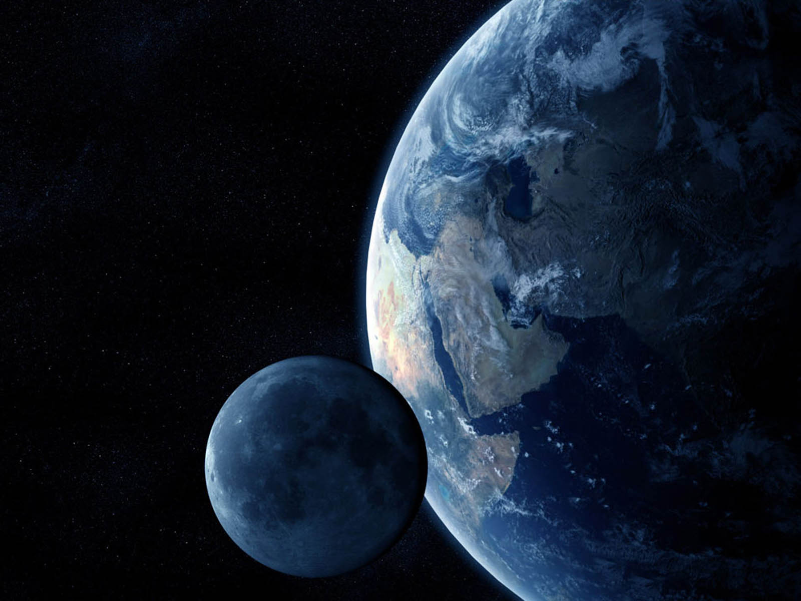Earth And Moon Wallpapers Earth And Moon Desktop Wallpapers Earth 1600x1200