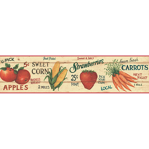 Blue Mountain Farm Market Wallpaper Border   Walmartcom 500x500
