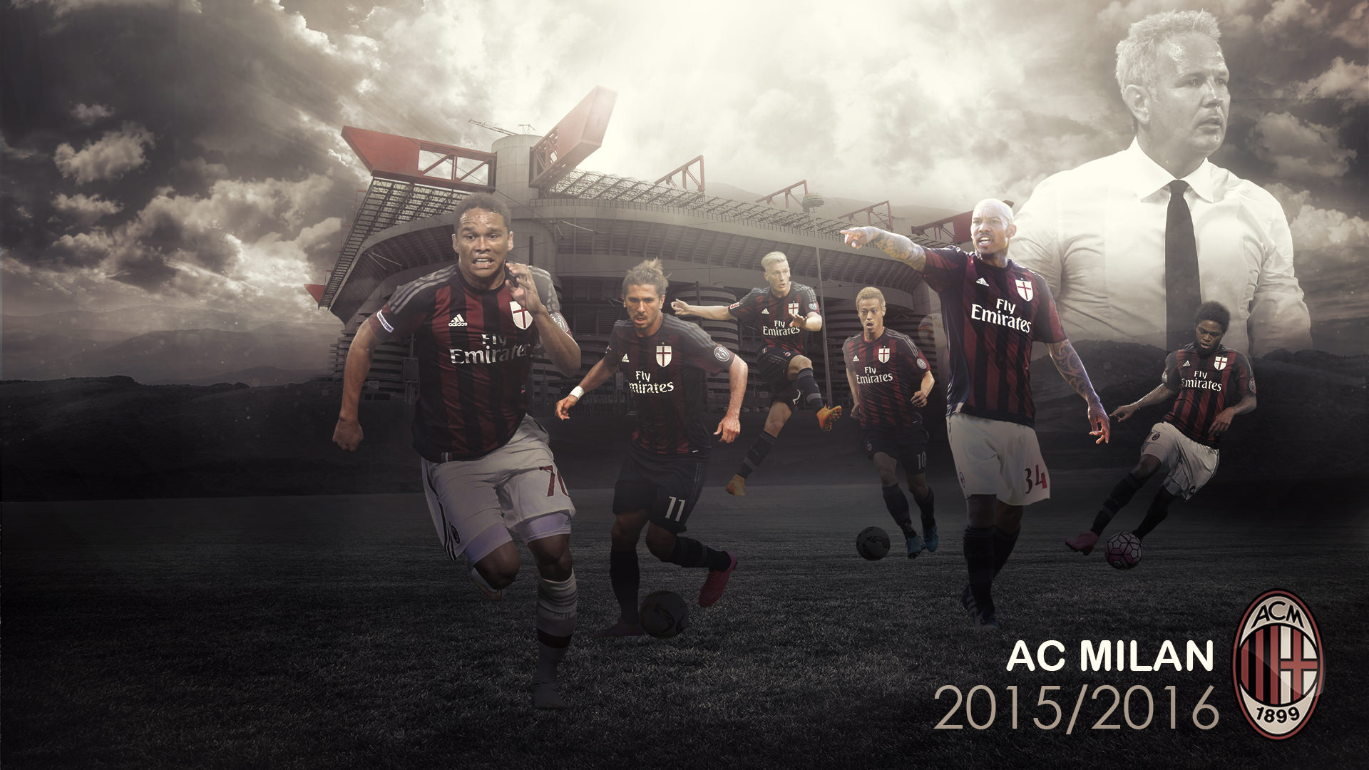 AC Milan 20152016 Wallpaper   Football Wallpapers HD 1920x1080