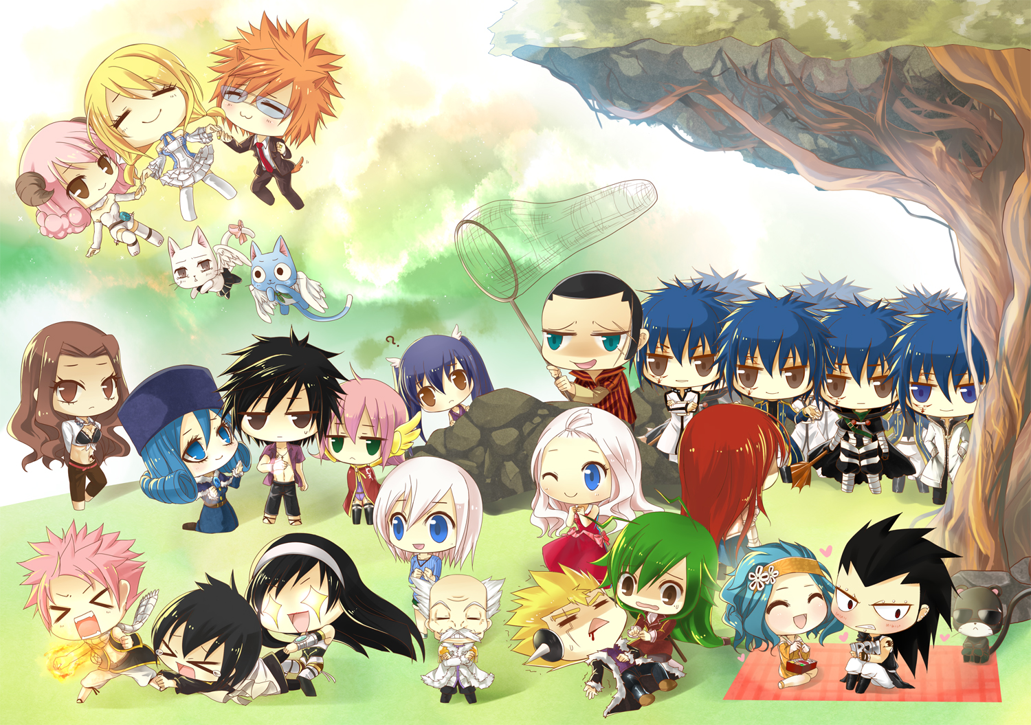 Fairy Tail images fairy tail chibi HD wallpaper and background photos 1500x1055