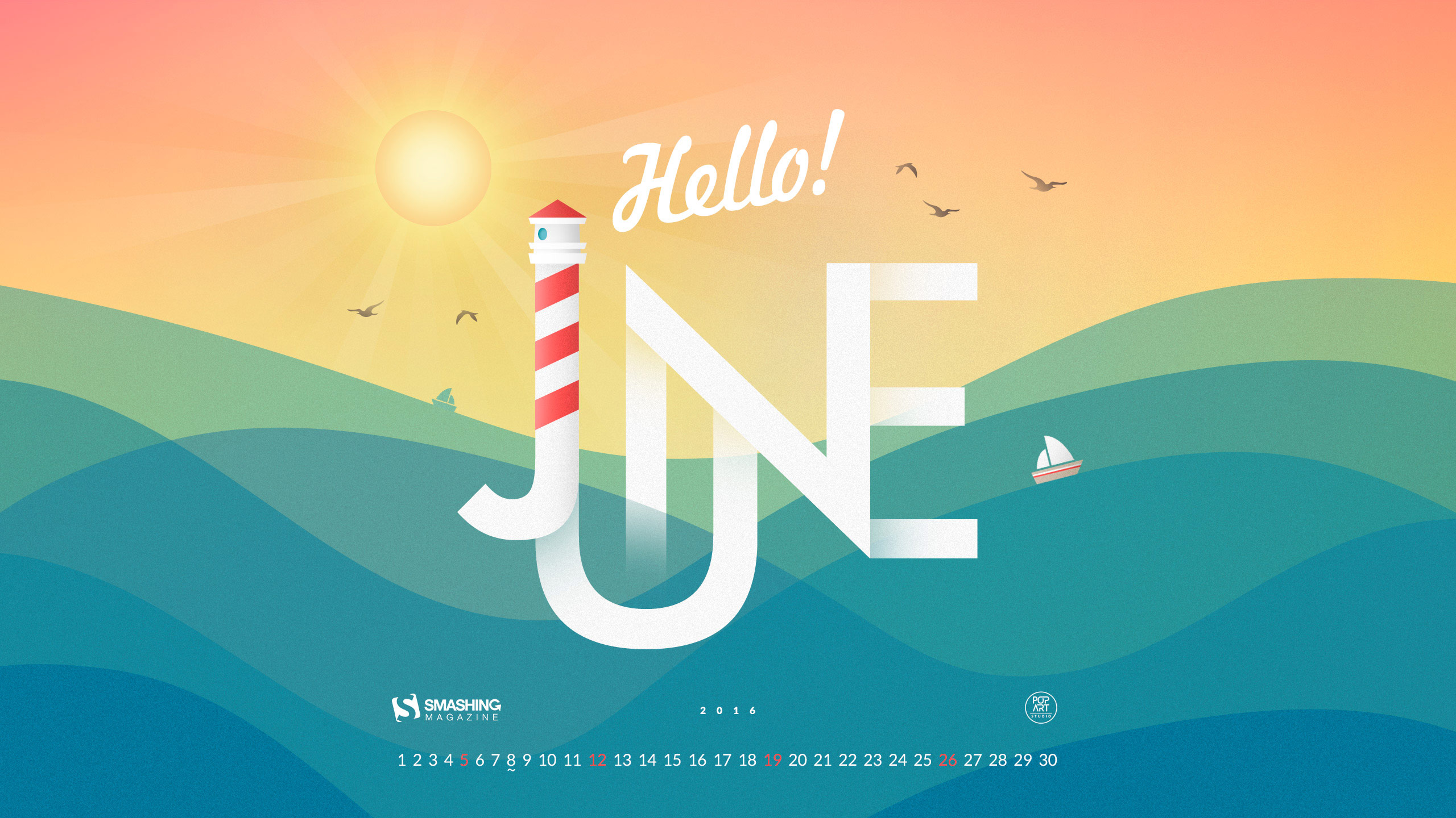 Desktop Wallpaper Calendars June 2016 Smashing Magazine 2560x1440