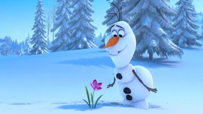 First Frozen Teaser Follows Fumbling Snowman Video   The Hollywood 648x365