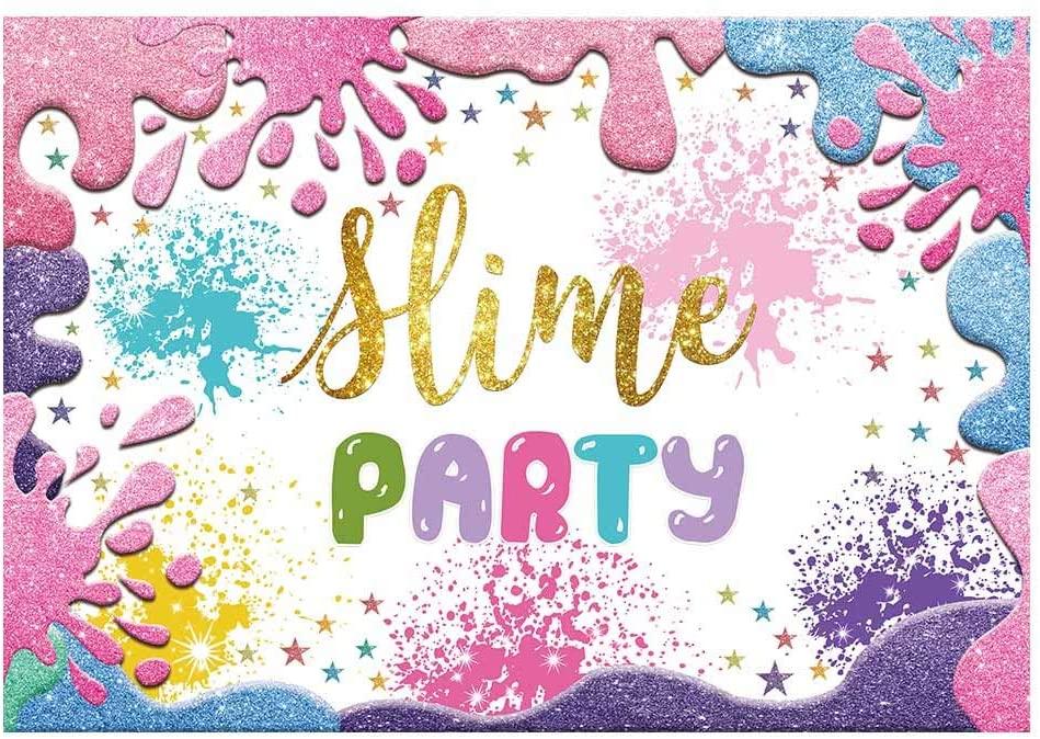 Amazoncom Funnytree 7x5ft Slime Theme Party Backdrop Glitter 949x674