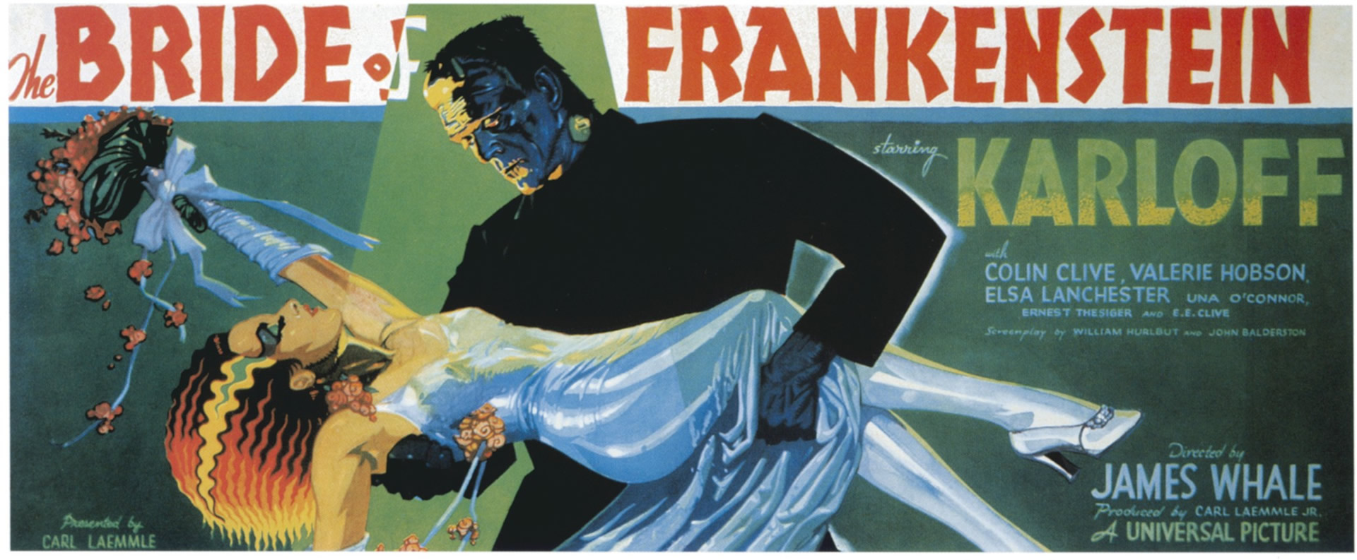 The Bride Of Frankenstein Landscape   Vintage 1930s Movie Posters 1920x793