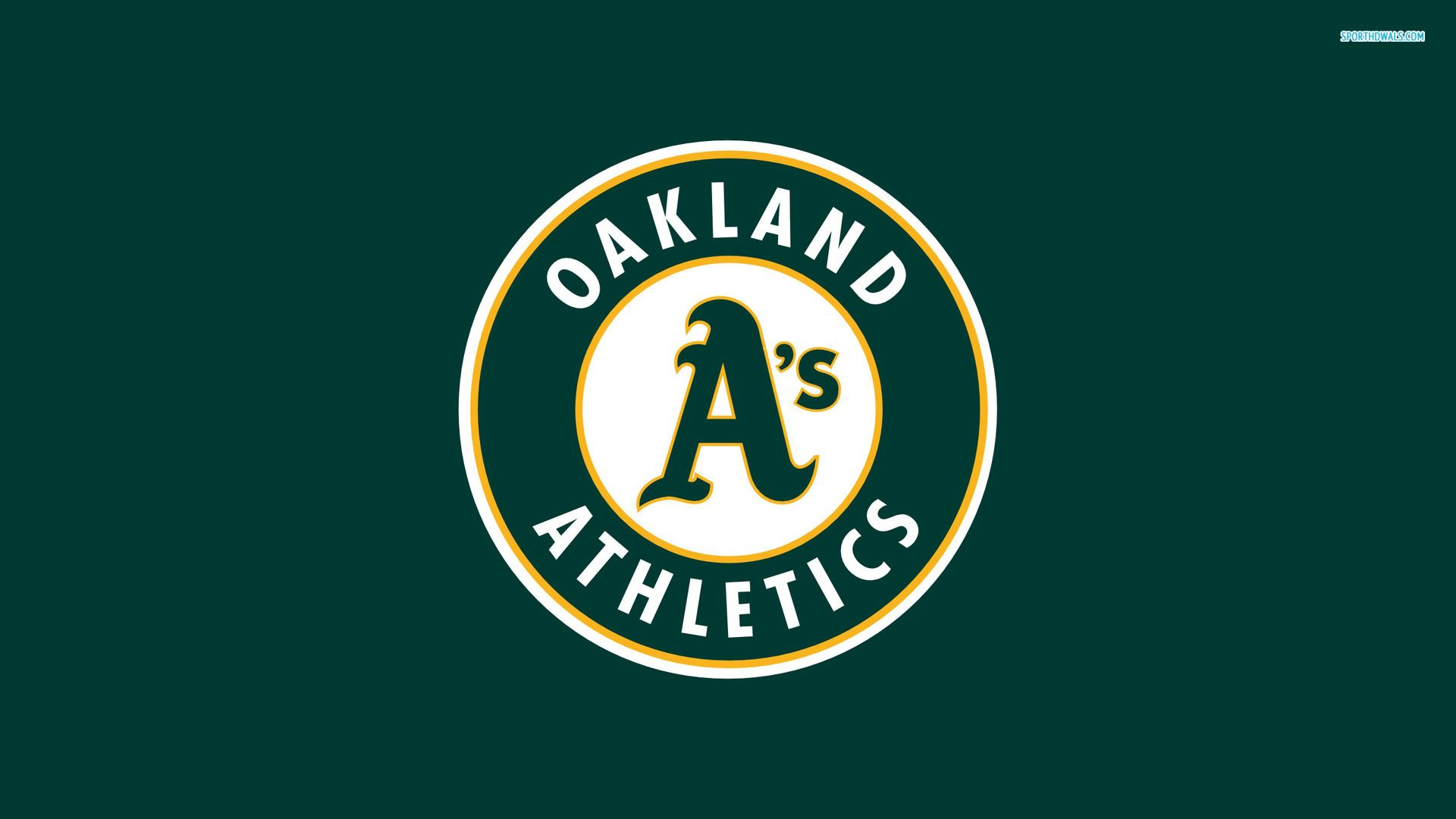 Oakland Athletics Logo Desktop Wallpaper Oakland As Themes 1920x1080