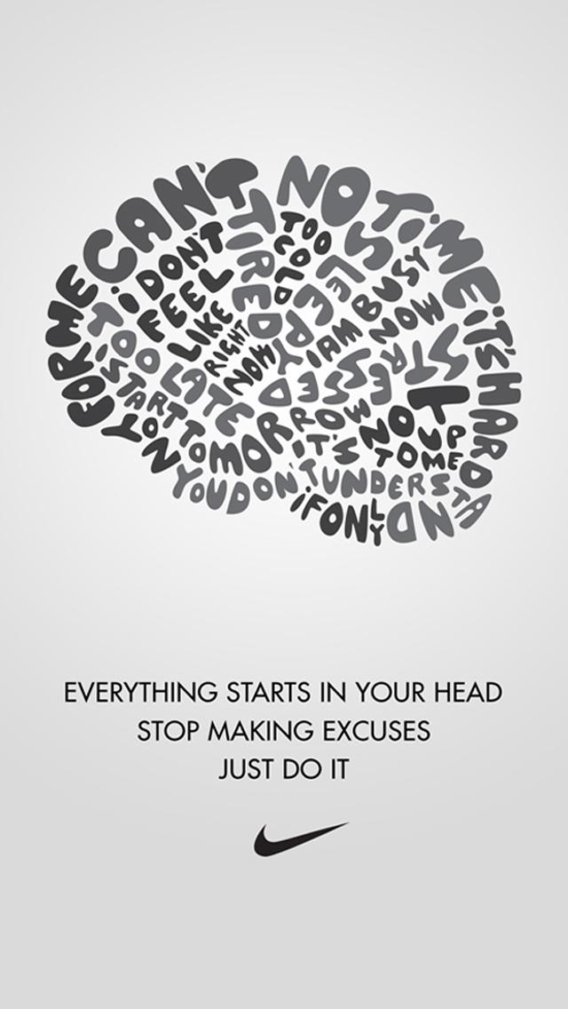 Girls Nike Quotes Wallpaper QuotesGram 640x1136