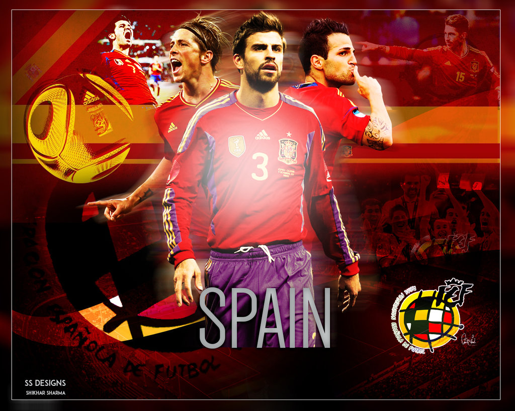 Spain Football Team Wallpaper by shikhary2j 1024x819