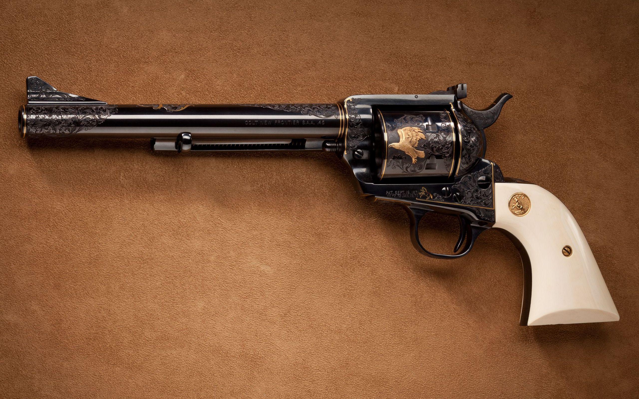 Colt brown colt gun military 2560x1600