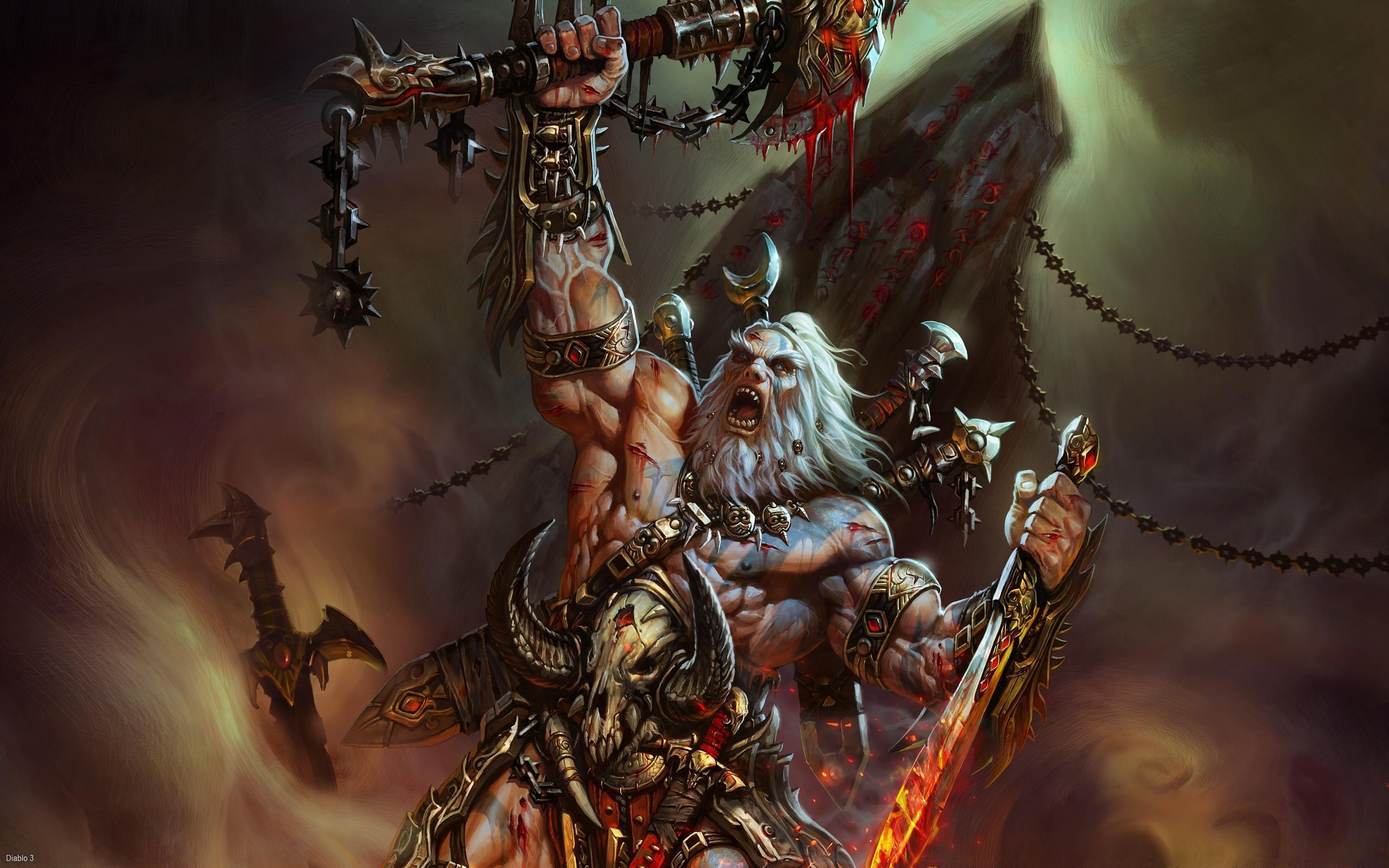 the Diablo 3 Warrior Wallpaper Diablo 3 Warrior iPhone Wallpaper 2560x1600