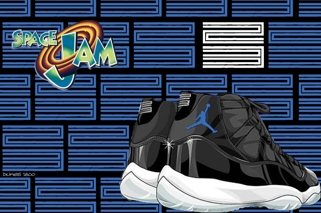 Air Jordan 11 Space Jam Wallpaper 1023x680