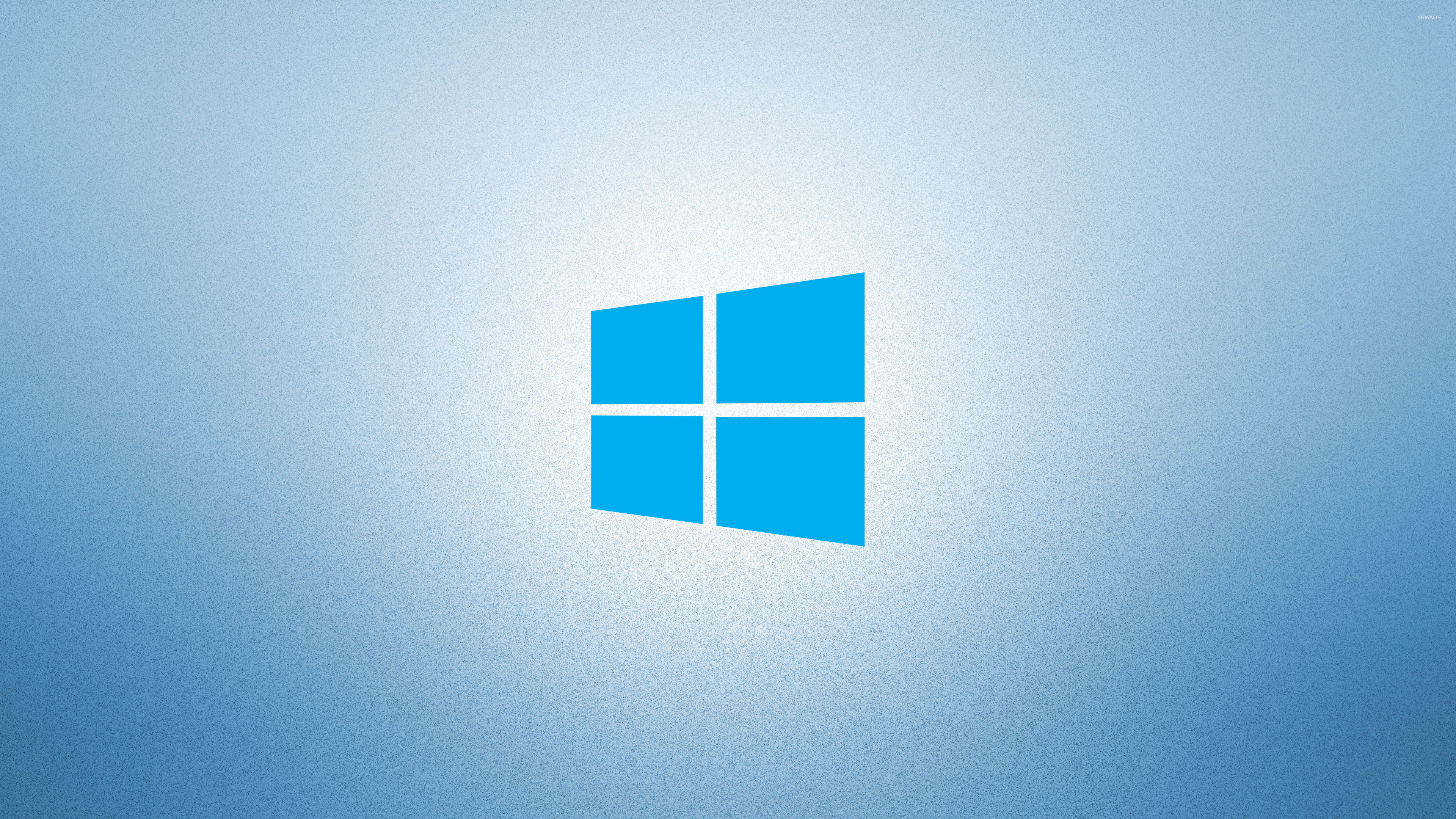 Free Download Windows 10 On Light Blue Simple Blue Logo Wallpaper