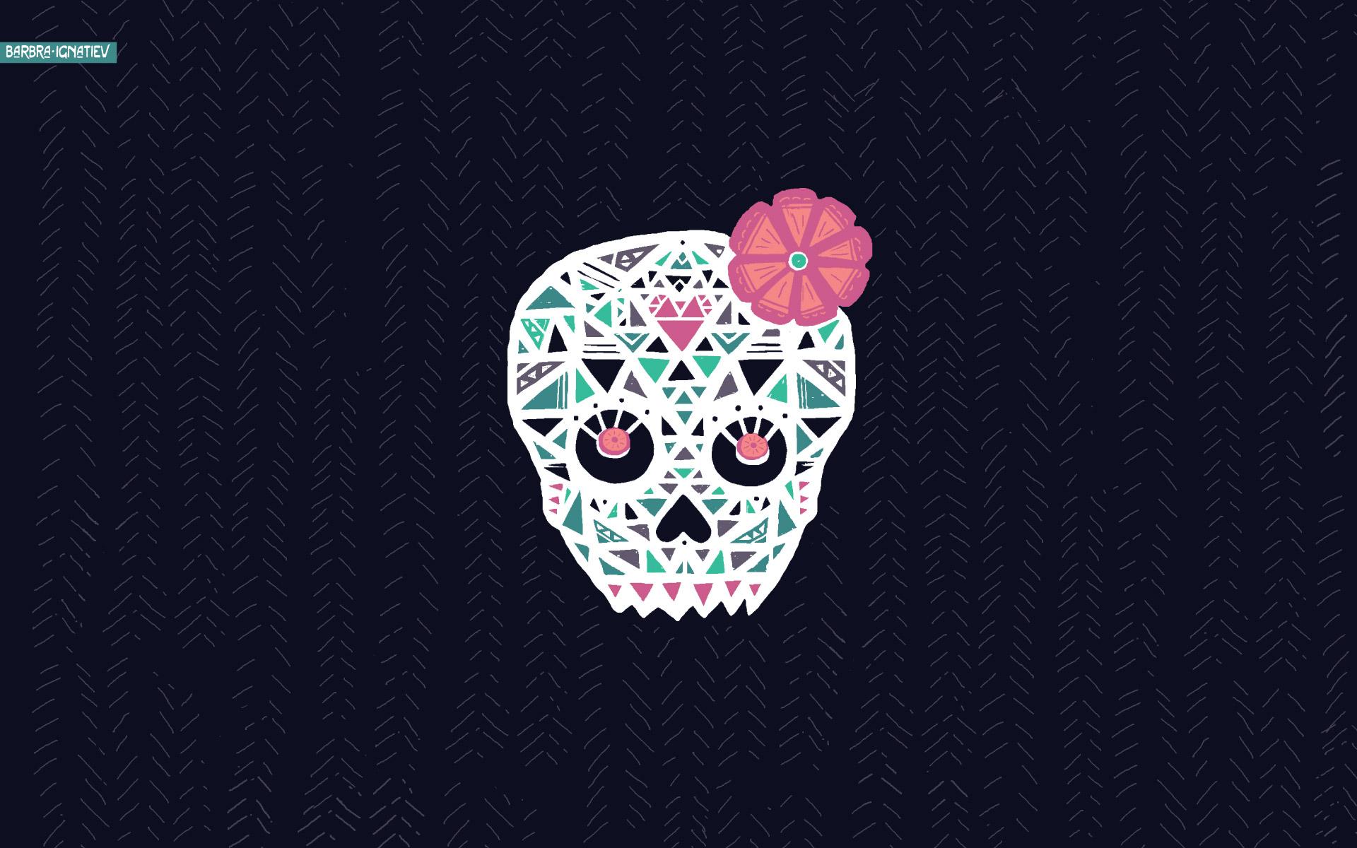 wallpaper chevron skull sugarheart sugarheartskull images 1920x1200