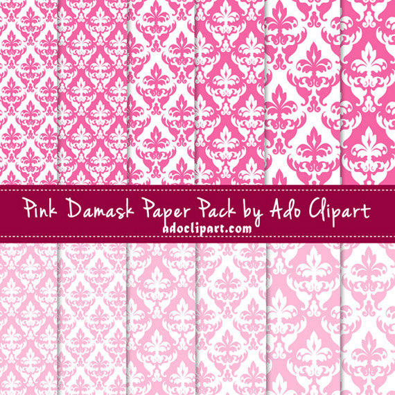 Download image Pink And White Damask Wallpaper PC Android iPhone and 570x570