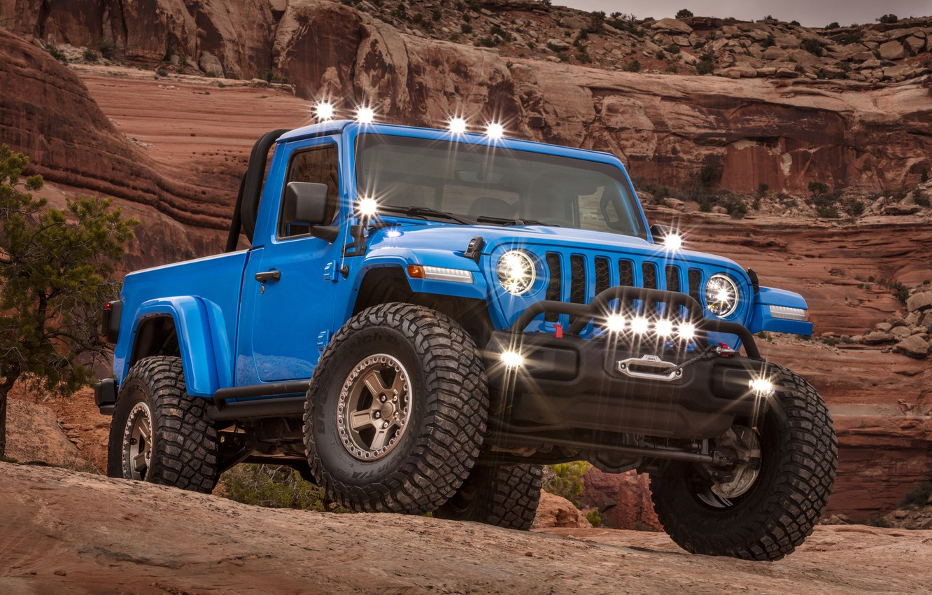 Wallpaper Gladiator Jeep 2019 Jeep J6 images for desktop 1332x850