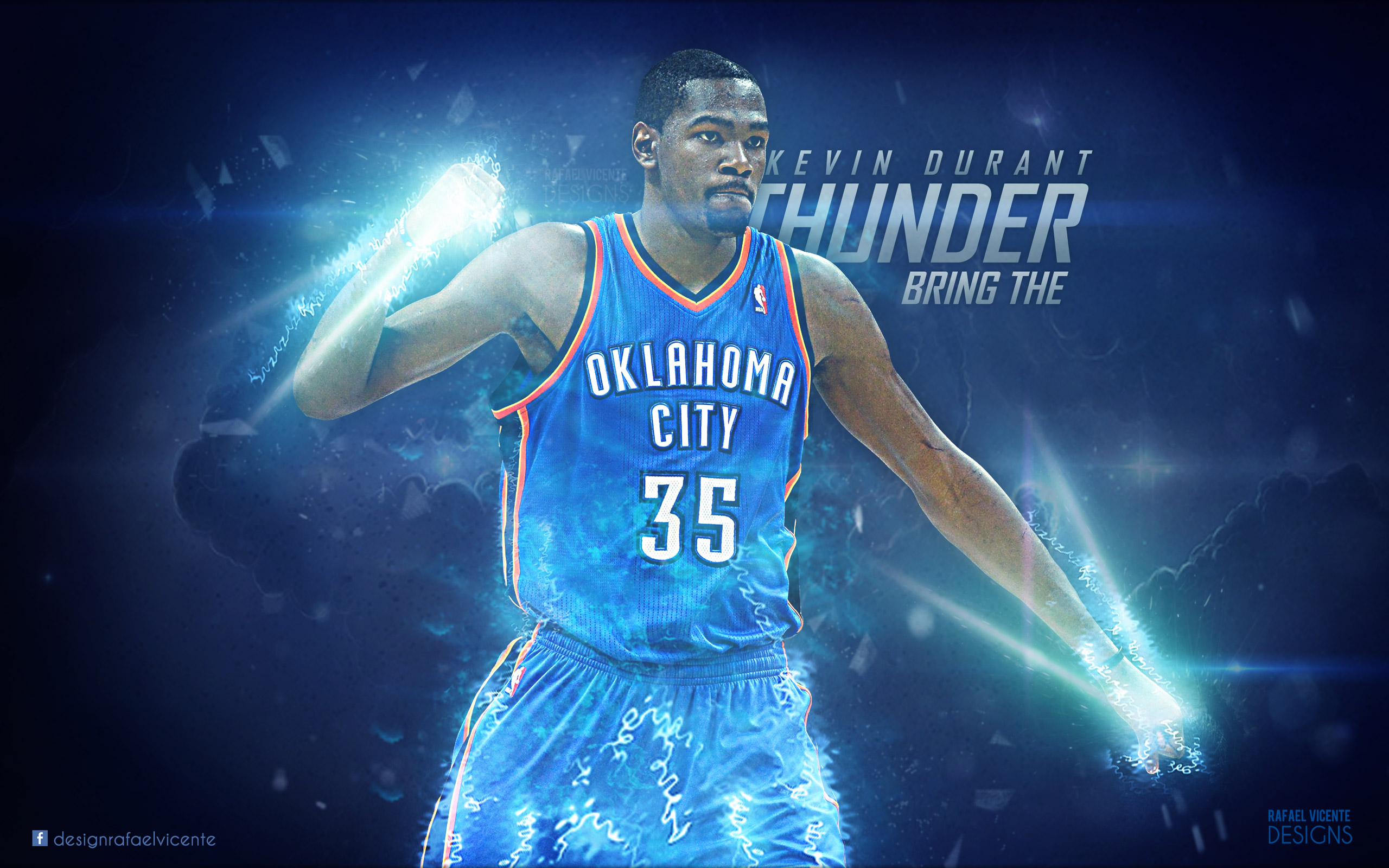 Kevin Durant Bring The Thunder 25601600 Wallpaper Basketball 2560x1600