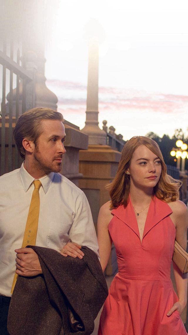 Lalaland Ryan Gosling Emma Stone Red Film iPhone 5s wallpaper 640x1136