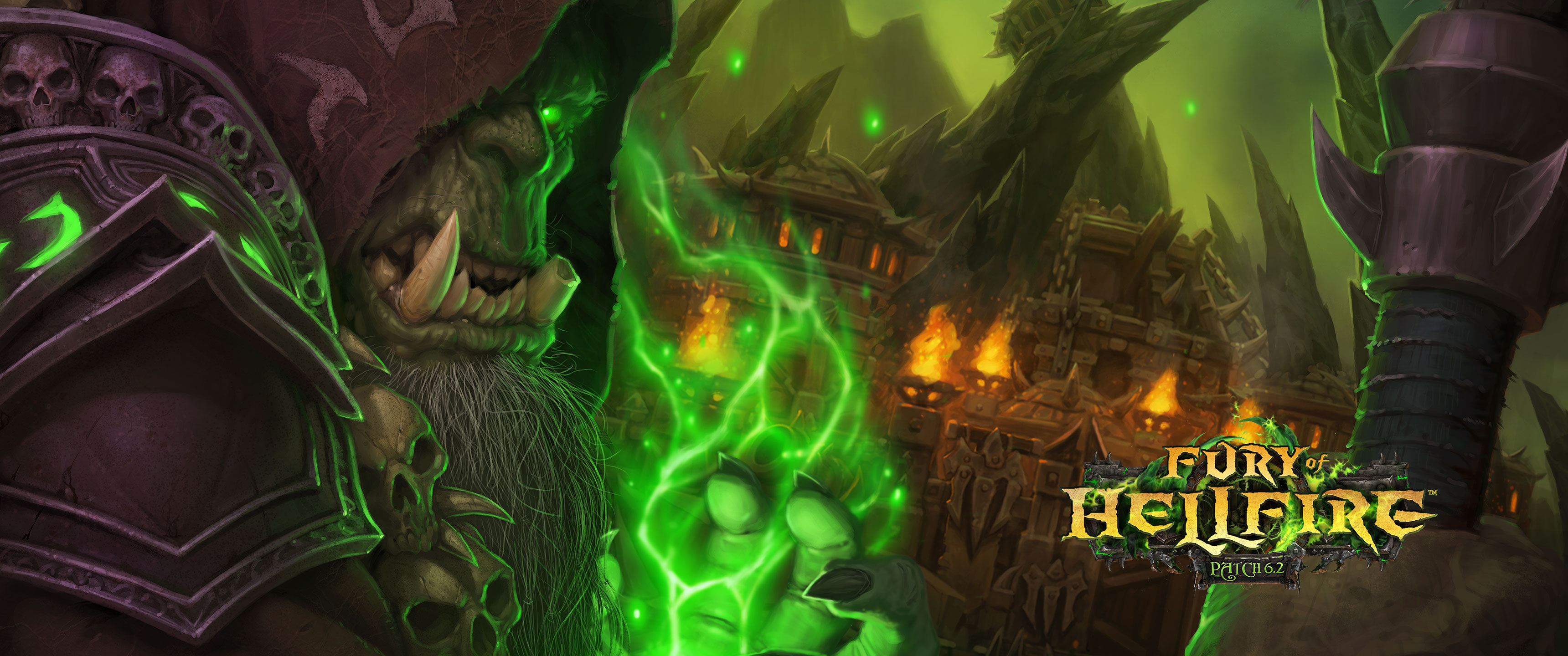 Patch 62 Fury of Hellfire Wallpapers Available   World of Warcraft 3440x1440