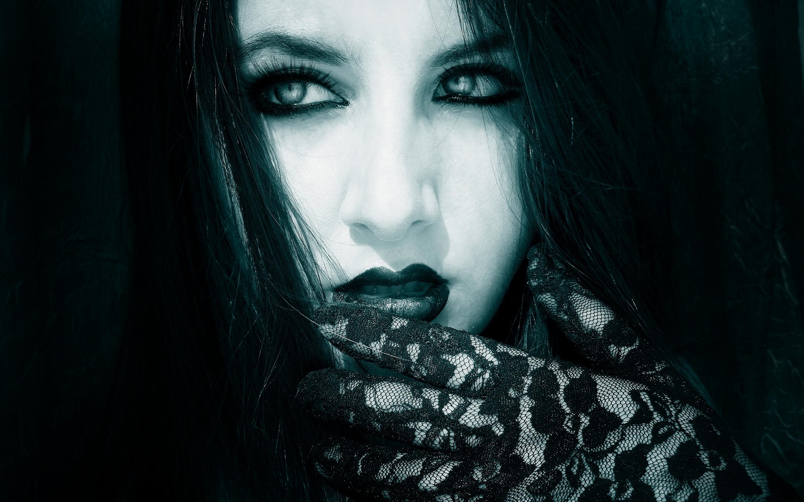 Women face dark gothic wallpaper 2560x1600 28491 WallpaperUP 2560x1600