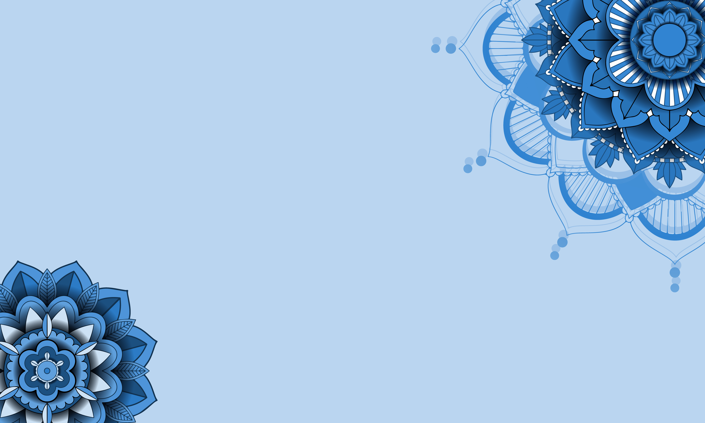Beautiful blue color mandala background 1363672   Download 6086x3651