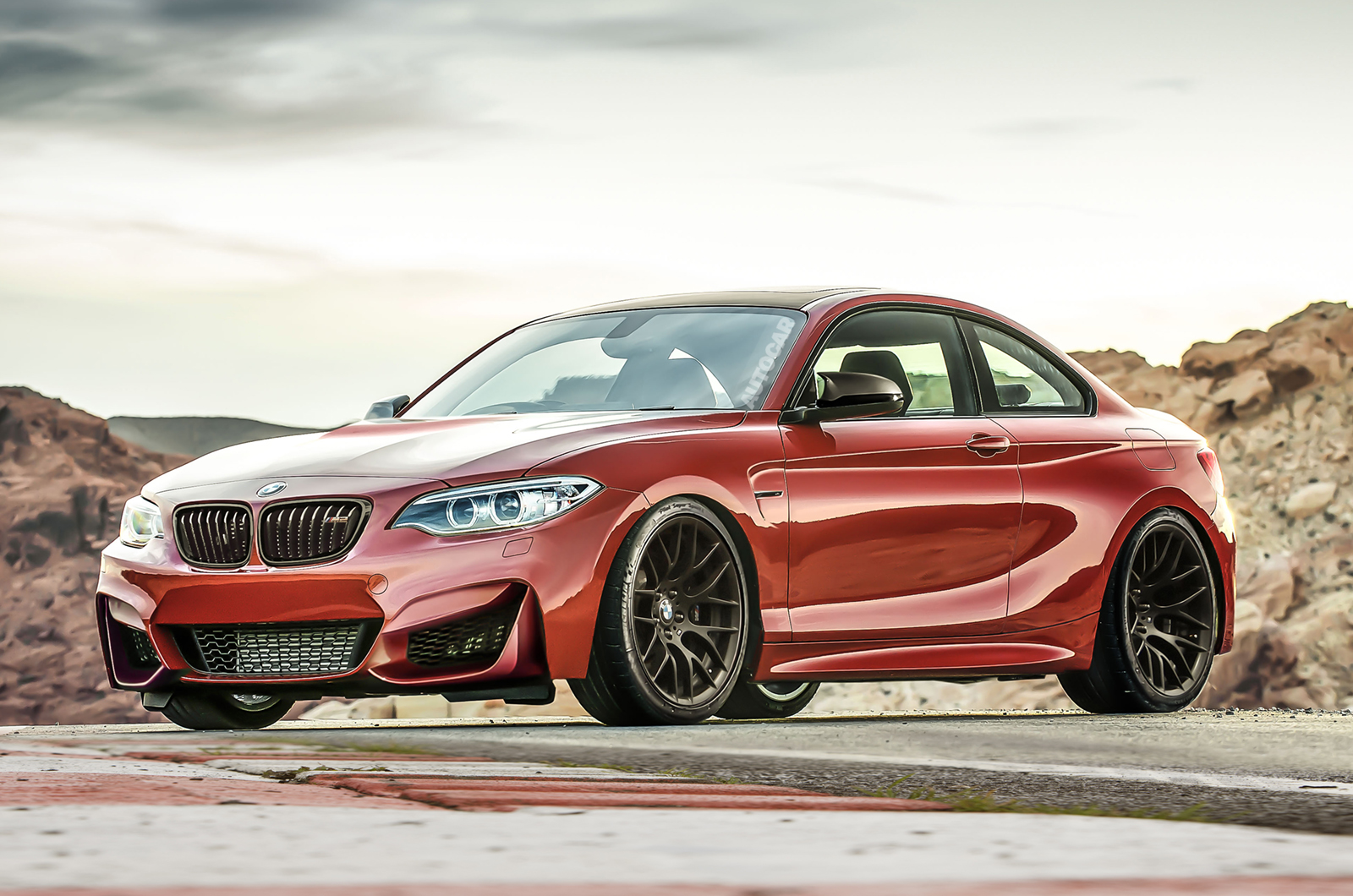 New Cars 2015 BMW M2 Red Color Car for Wallpaper Your Car Today 1600x1060