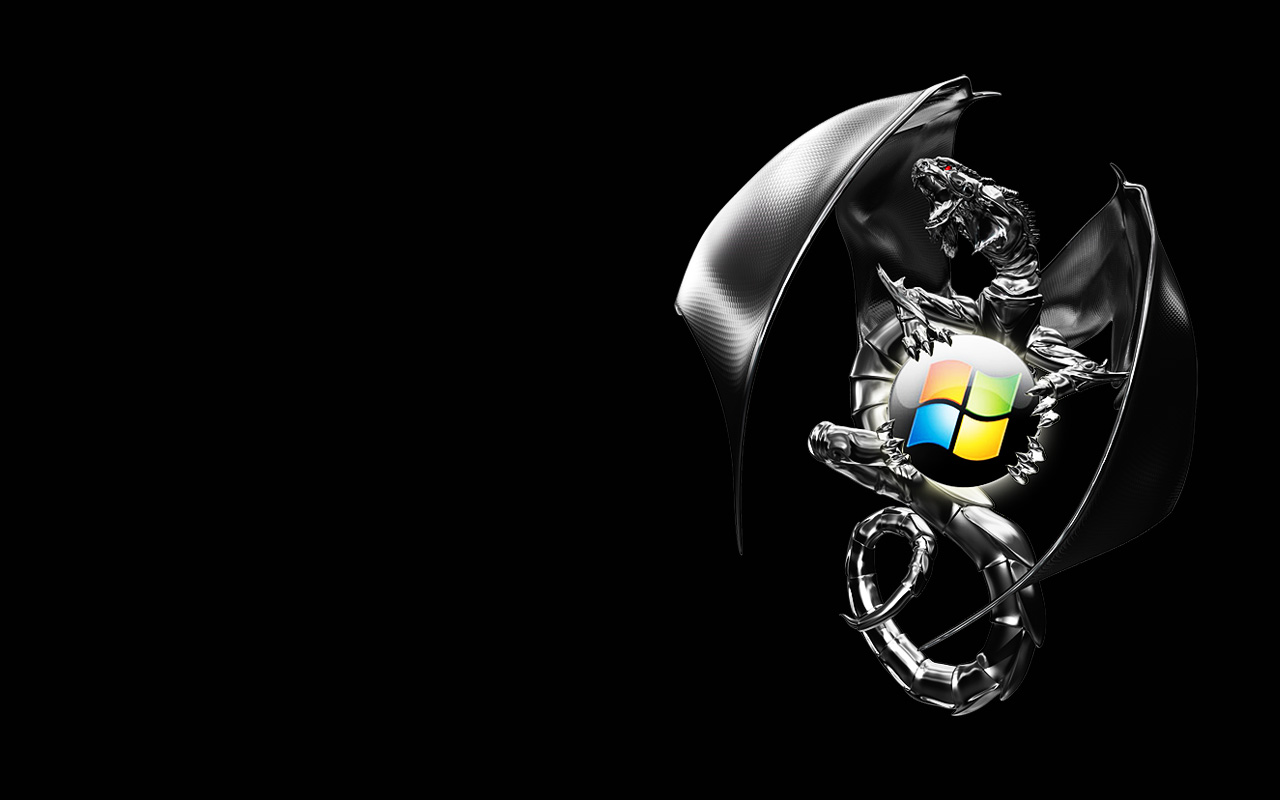 Black windows - Wallpapers Windows Seven 1280 800 The Cluster