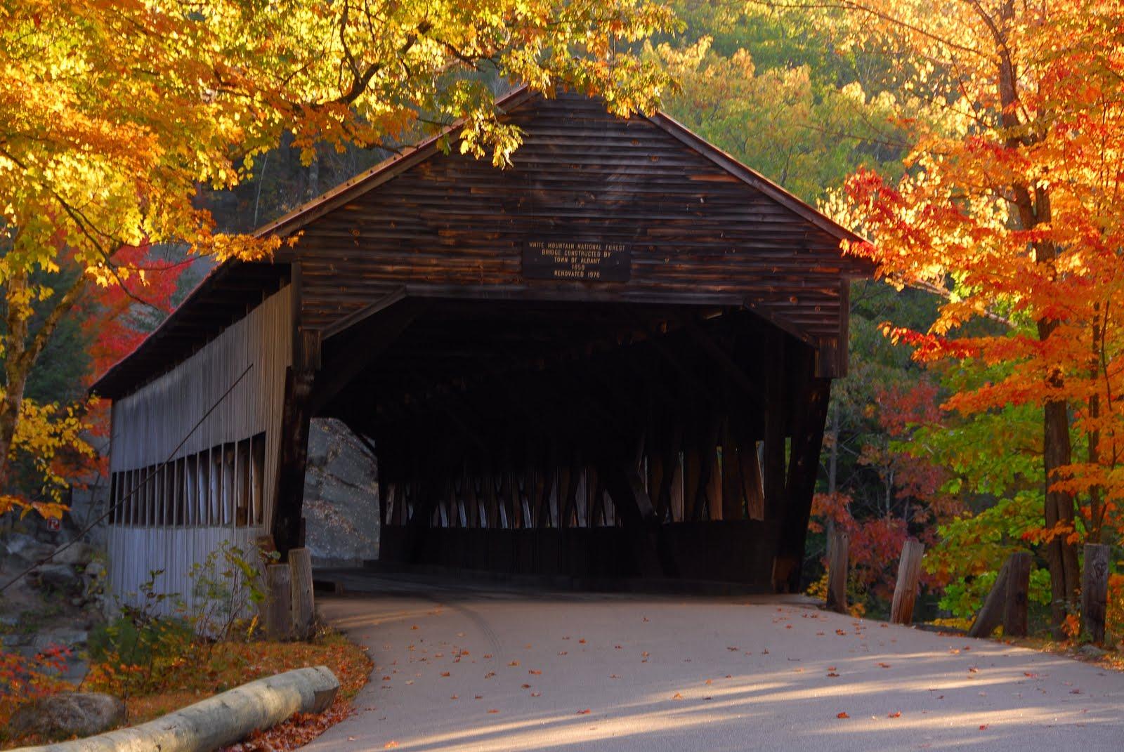 Fall Covered Bridge Desktop Wallpaper Wallpapersafari