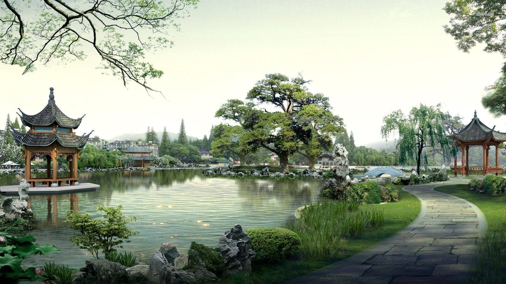 Japanese Garden Wallpapers 1920x1080