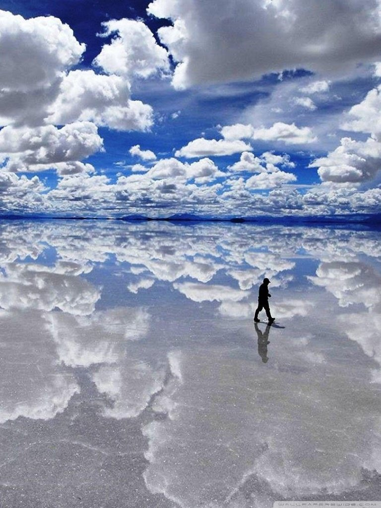 Salar de Uyuni Bolivia 4K HD Desktop Wallpaper for 4K Ultra HD 768x1024