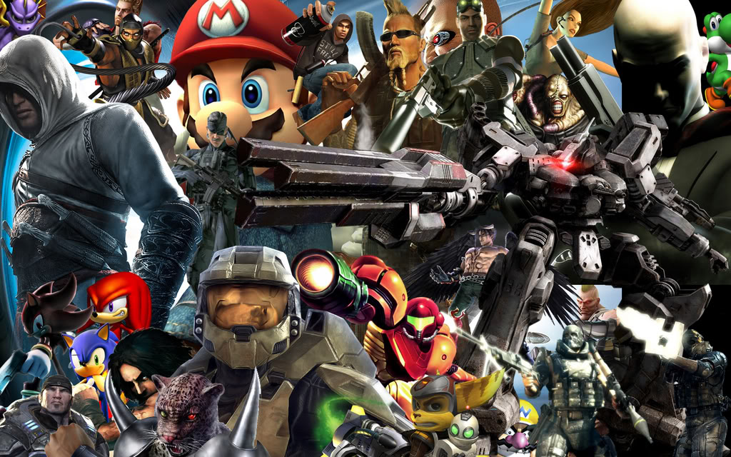 video game characters wallpaper hd widescreen 11 1024x640