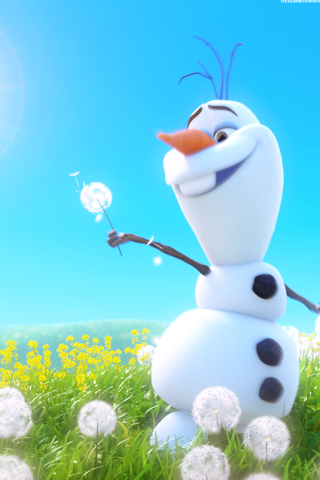 Frozen Olaf iPhone wallpaper 640x960