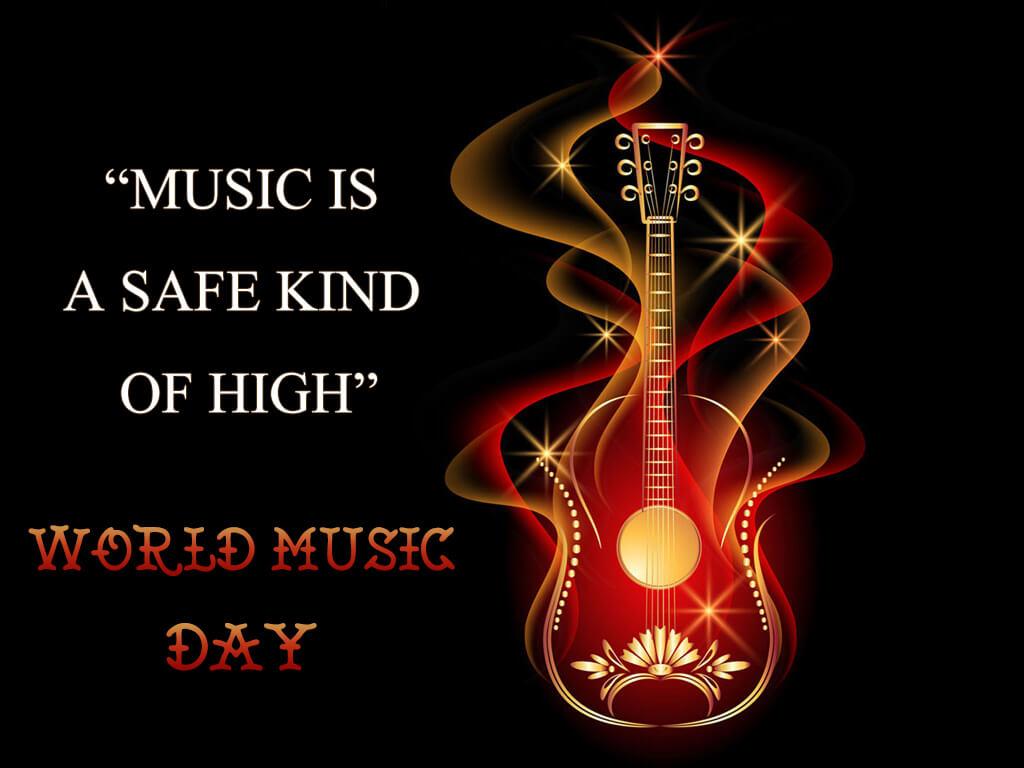 Happy World Music Day Hd Guitar Wallpaper 1024x768