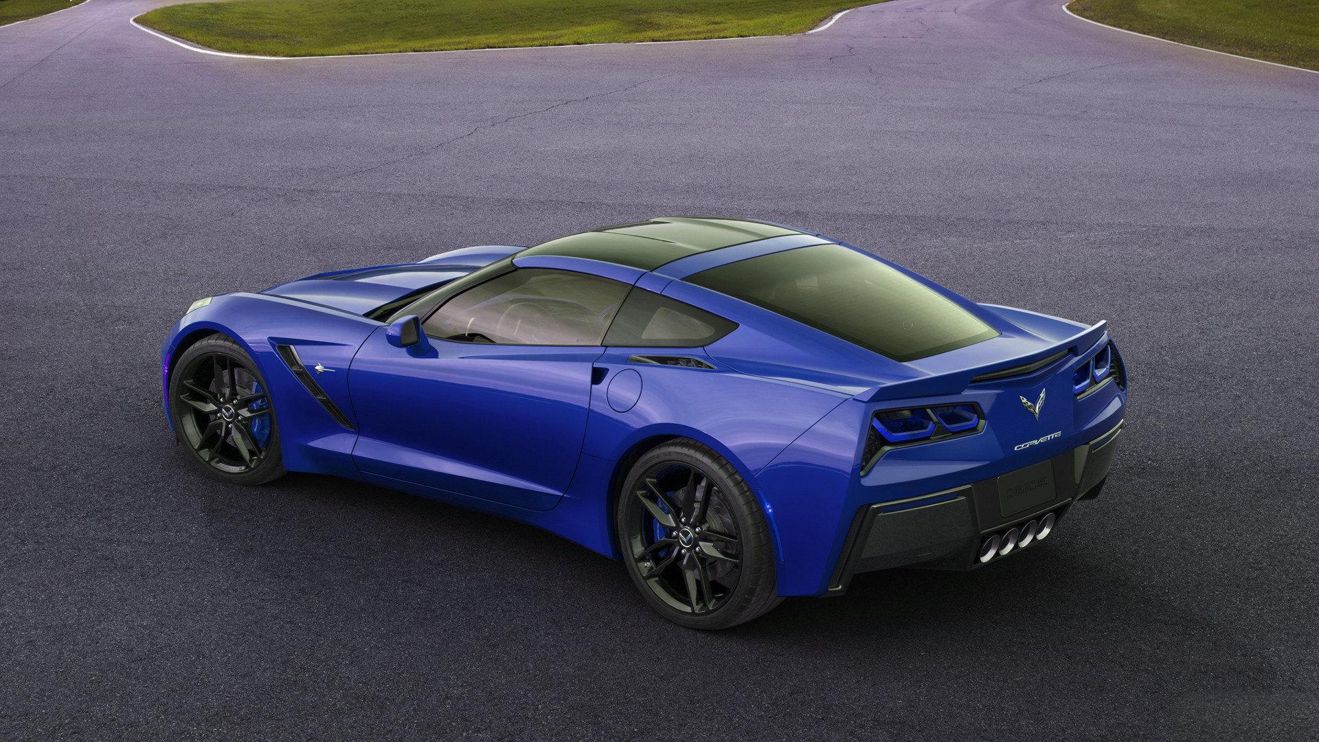 Blue Corvette C7 Stingray Auto 2014 1920x1080