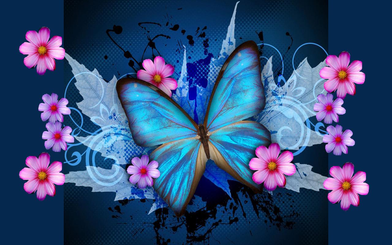 Download Blue Butterfly Galaxy Wallpaper 1280x800 Full HD Wallpapers 1280x800