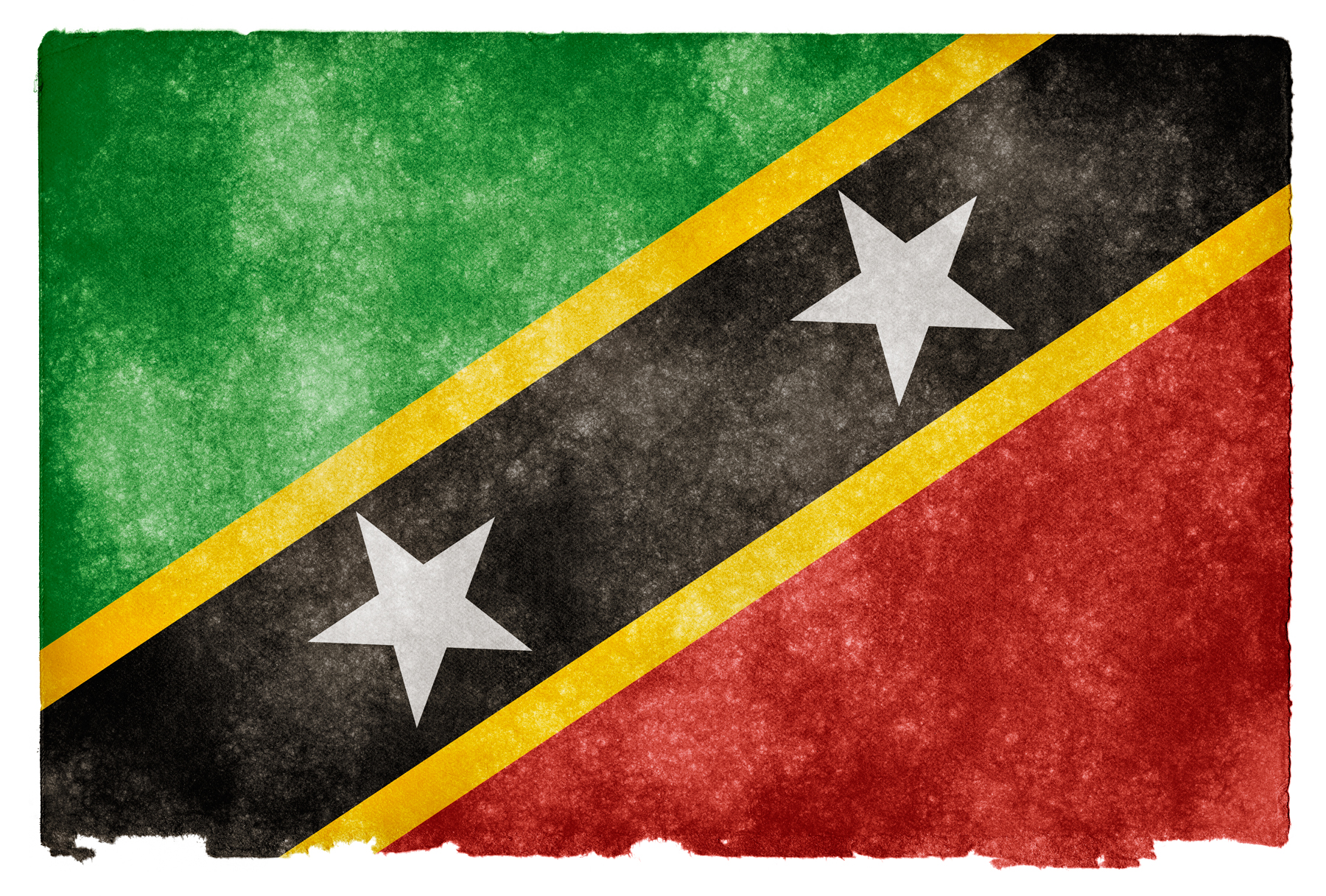 Saint Kitts and Nevis Grunge Flag HD Wallpaper Wide Screen 1800x1217