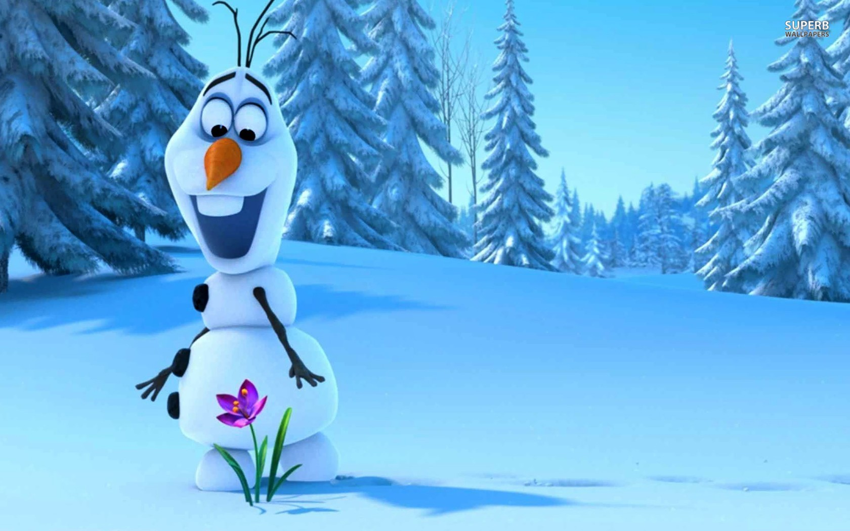 Image for Olaf Frozen wallpaper 1680x1050