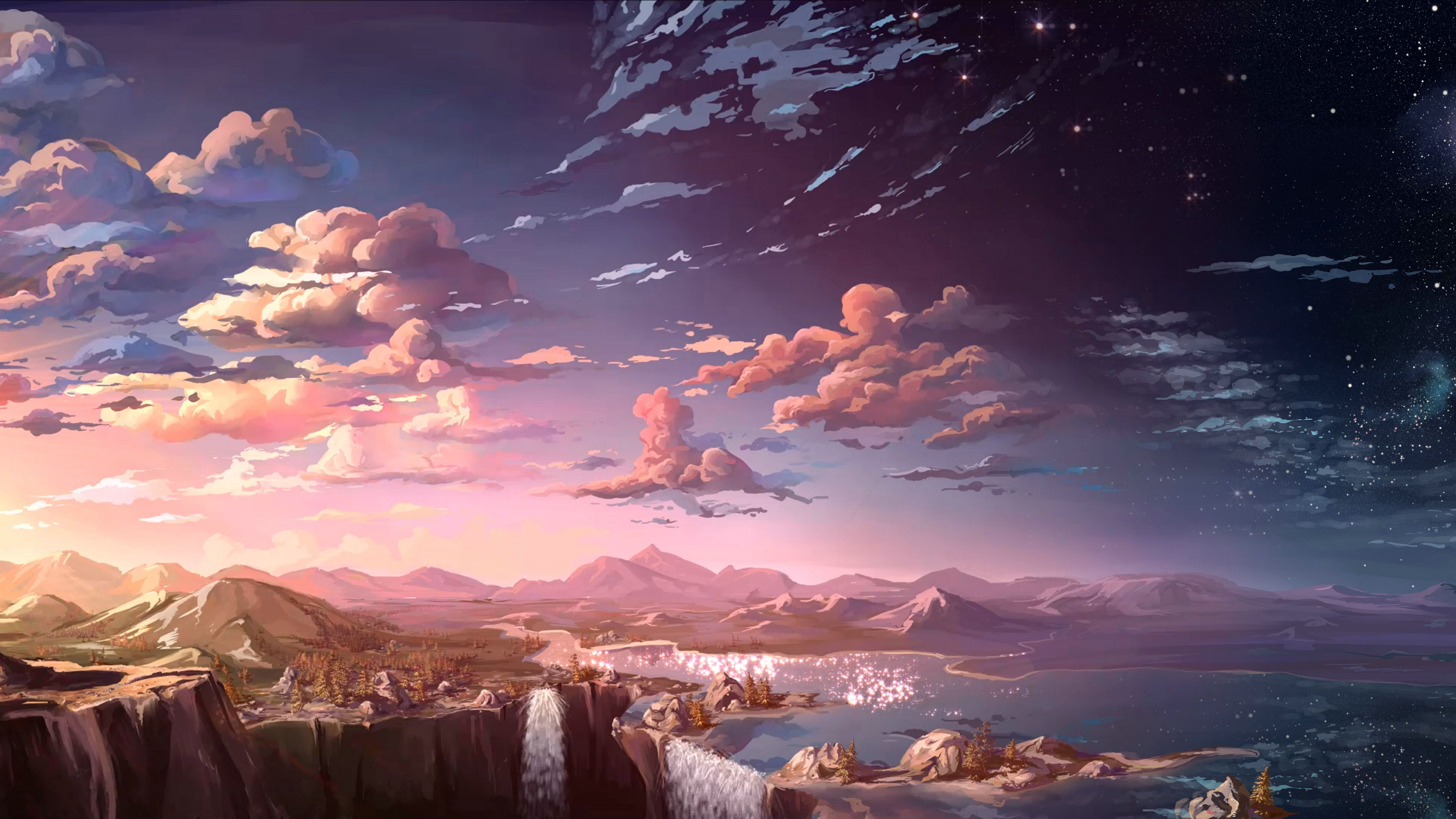 Anime Landscape Wallpapers   Top Anime Landscape Backgrounds 5120x2880