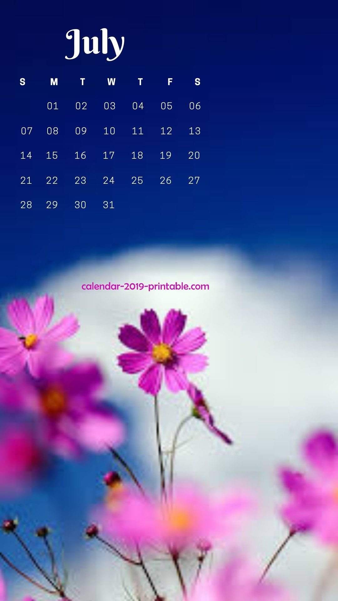 july 2019 iphone flower wallpaper 2019 Calendars in 2019 1080x1920