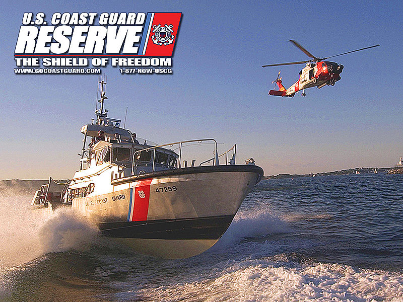 Description United States Coast Guard Reserve Desktop Wallpaper   Boat 800x600