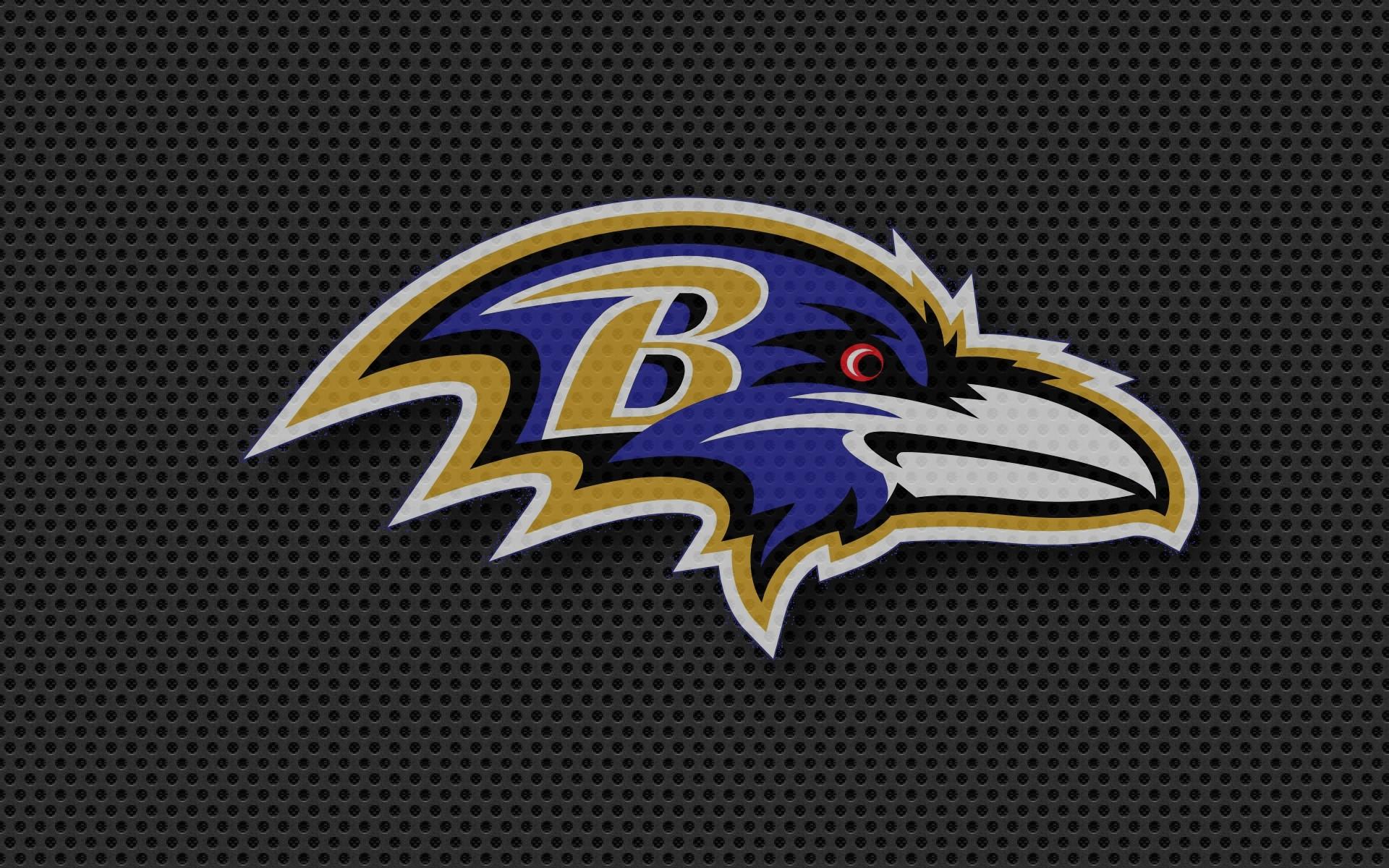baltimore ravens logo raven carbon black 1920x1200