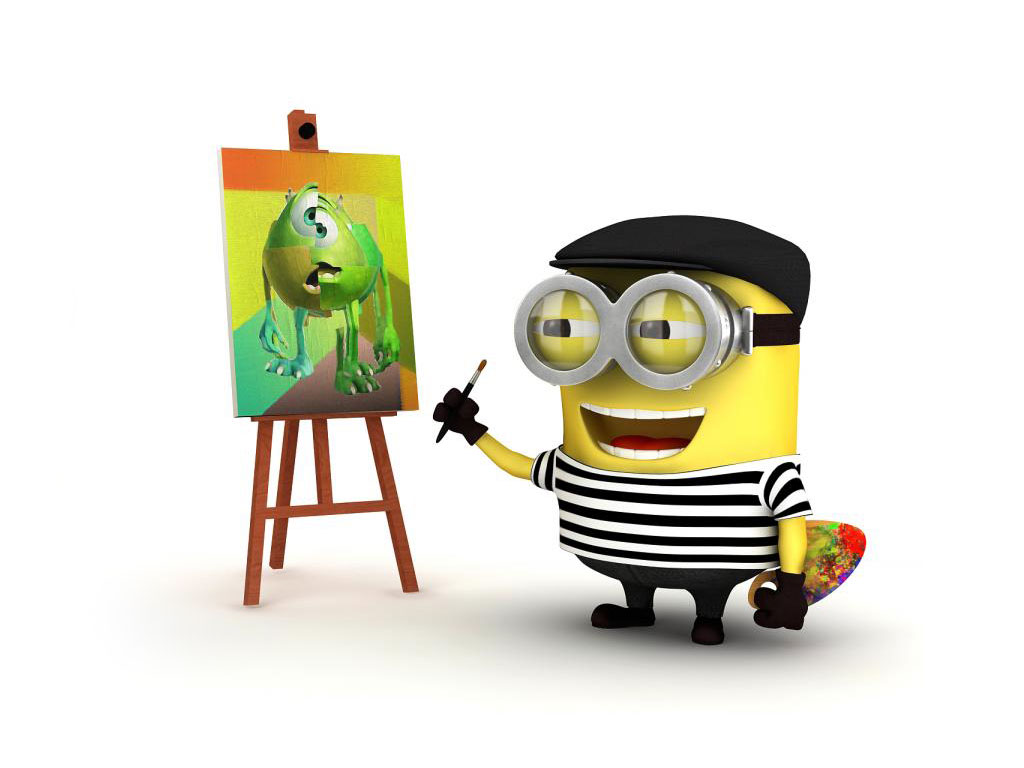 picasso minion pic despicable me 2 wallpapers desktop backgrounds 1024x768