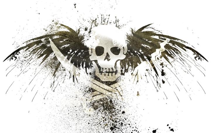 skulls pirates eagles flags skull and crossbones 1920x1200 wallpaper 728x455
