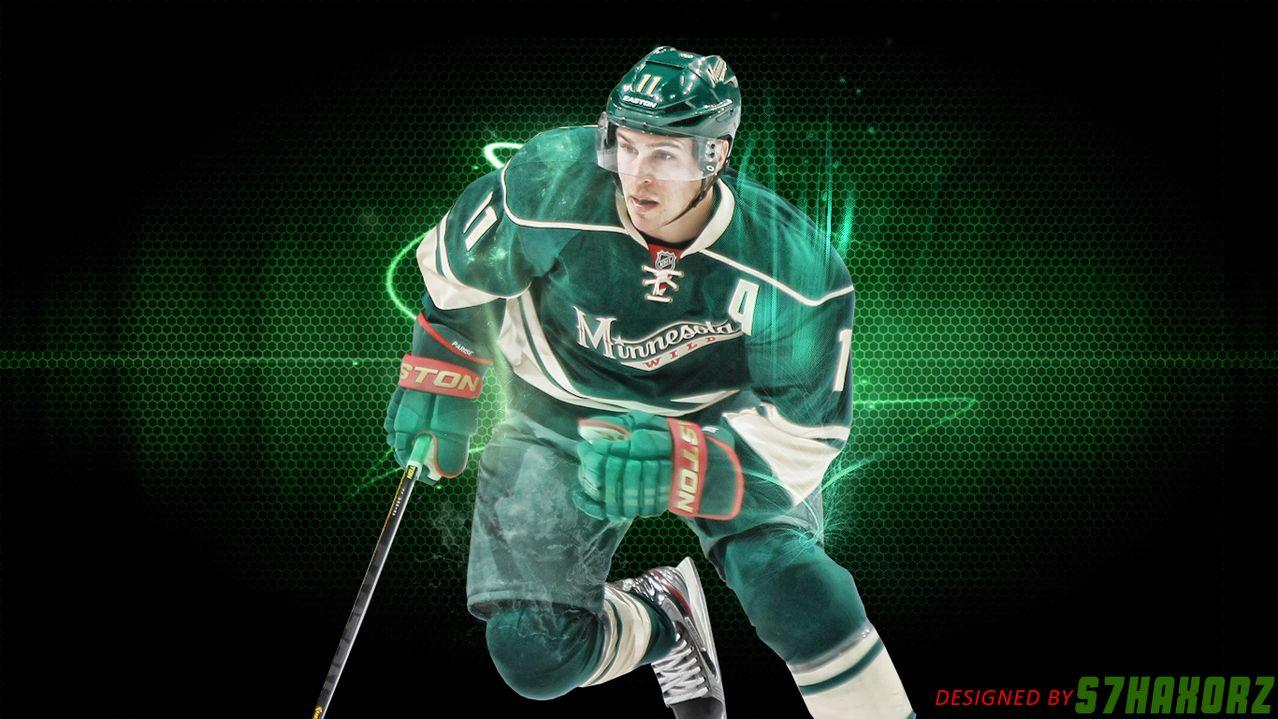 desktop wallpaper featuring Minnesota Wild forward Zach Parise 1278x719