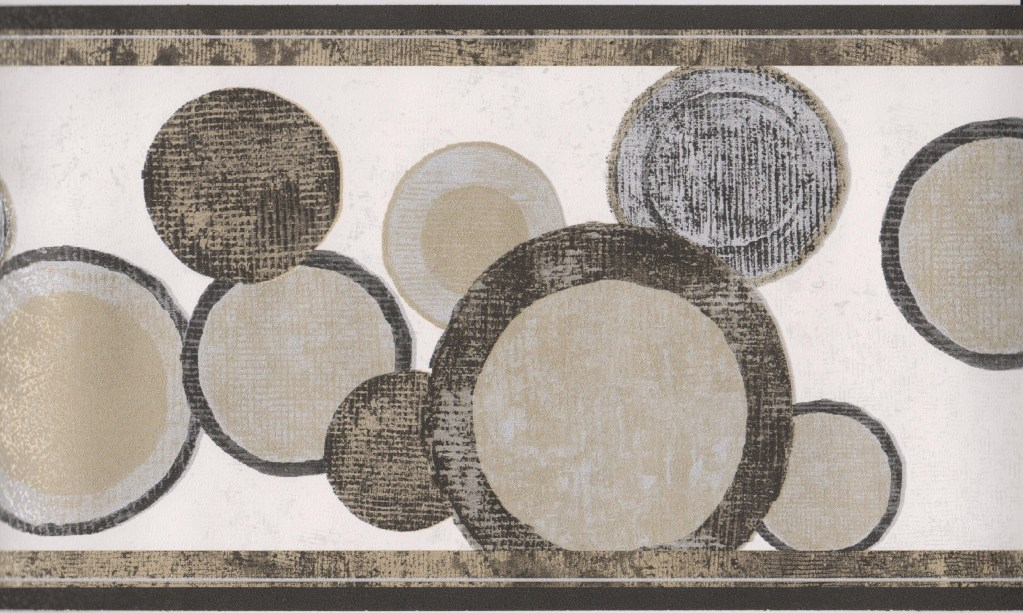 Geometric Wallpaper Border Black Gold Circles Modern Wallpaper Border 1023x613